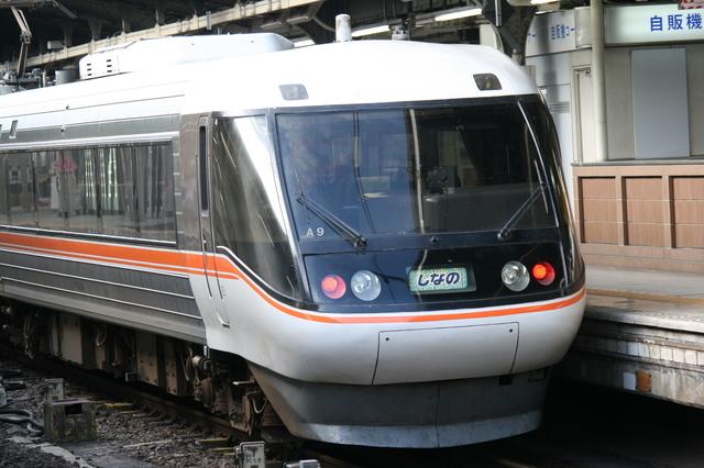 IMG_568△名古屋~松本・長野間を結ぶ特急「ワイドビューしなの号」383系特急型車両9.JPG