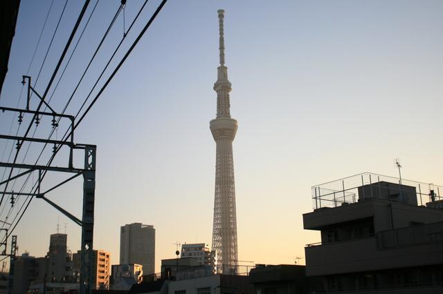 IMG_曳舟駅からの東京スカイツリーの眺望