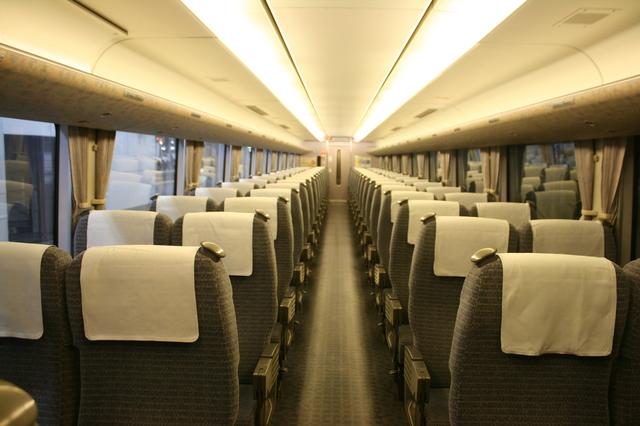 IMG_JR西日本289系 普通車(自由席/指定席)の座席(グレーブルー)