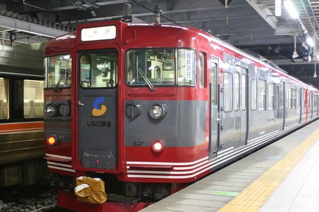 IMG_319しなの鉄道のスタンダードな塗装(長野駅にて)6.JPG