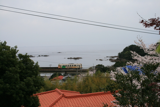 IMG_332太平洋に沿って走る、阿佐海岸鉄道の列車5.JPG