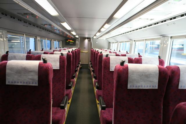 IMG_JR快速ラビットで使われているE231系車両の、グリーン車階下座席