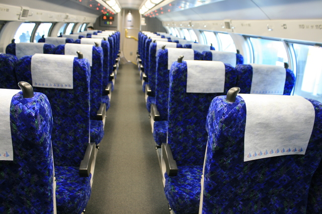 IMG_JR「快速ラビット」で使われているE231系車両の、グリーン車2階座席