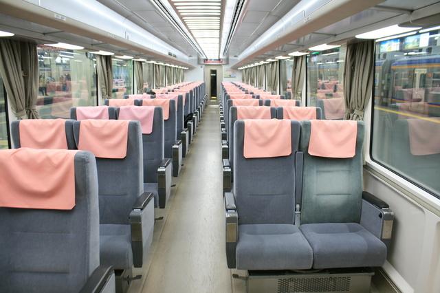 IMG_全席座席指定の南海特急りんかん号(11000系)の車内